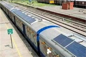 started production in solar energy devices installed to run trains