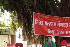 tarn taran health workers hunger strike