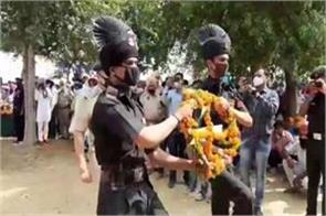 martyr lakhbir singh cremation