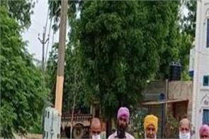 bibi bhatti  budhlada  visited  farmers  rain