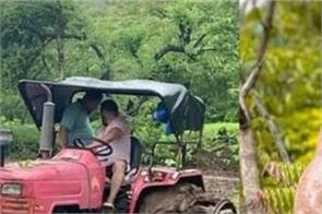 salman khan gets real about farming ploughs field on a tractor in the rain
