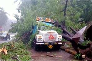 strong winds and heavy rains in mumbai  red alert in many areas