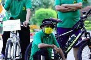 bicycle rally organized by heritage cultural and welfare society