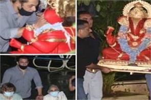 ganesh chaturthi 2020 iulia vantur joins salman khan and family for visarjan