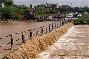 sukhna lake flood gates opened