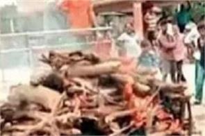 gujarat poor corpses crematorium  funeral
