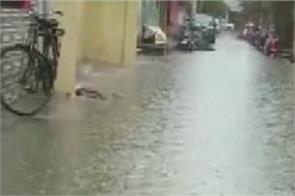 rainfall induced severe waterlogging in parts of indore
