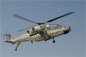 light combat helicopter deployed in leh