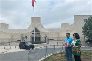 uygar activists protest against china in america