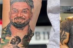 jaggi kharoud make tattoo for his late friend satnam khattra