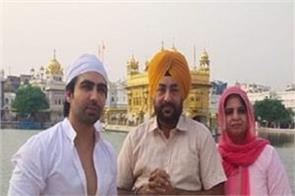 punjabi singer hardy sandhu at golden temple