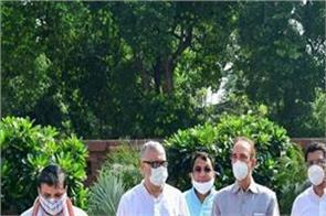 suspended rajya sabha mps end protest boycott session