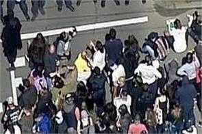 melbourne  demonstration  74 arrested