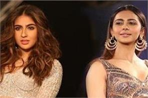 rhea chakraborty drug case   sara ali khan and rakul preet singh
