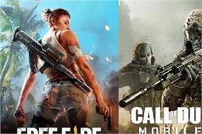 call of duty mobile and garena free fire reaches in top 3 most downloaded games