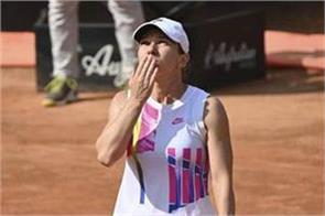 halep in the semifinals of the italian open