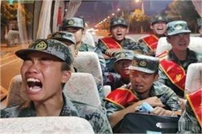 deployment on indian border chinese soldiers start crying claims in video