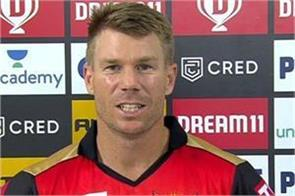 warner gave a big statement after losing
