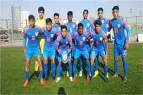 india  s under 16 team defeated uae in a friendly football match