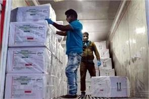 first batch of 10 lakh vaccines for bengal reached kolkata airport