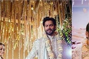 varun dhawan and natasha dalal wedding photos