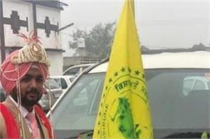 brides and grooms  peasant flags  weddings  ceremonies