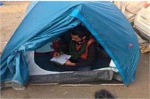 exams in farmer protest