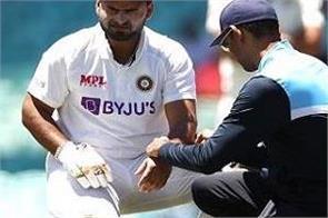 rishabh pant injury india vs australia