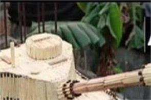 indian army matchsticks tank artist