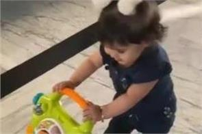 kapil  s daughter anira learns to walk with walker  video goes viral