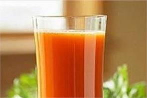 1 glass carrot juice blood pressure skin stones