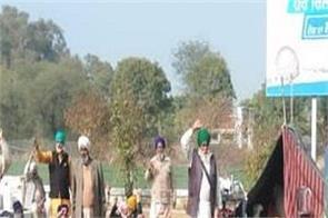 budhlada  reliance petrol pump  farmers  protest