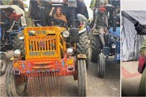 sonia mann in farmers tractor rally