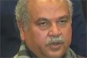 agriculture minister narendra singh tomar