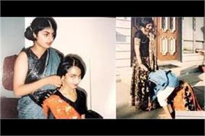 neeru bajwa childhood pics with sisters
