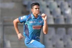 arjun tendulkar made his debut in the mumbai senior team