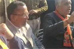 peoples protest against bjp som parkash minister