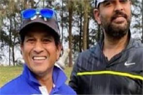 sachin and yuvraj were seen playing golf together after cricket