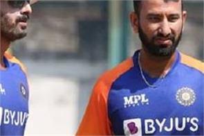 cheteshwar pujara  hardik pandya  pink ball  practice