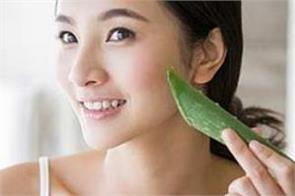 beauty tips  aloe vera relieves many problems including facial blemishes