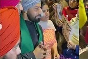 punjabi singer harf cheema arrives at chandigarh protest cheers people
