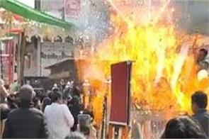 rohtak nitrogen gas balloons explosion mp wife burn