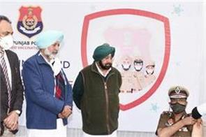 cm launches covid 19 vaccination campaign for punjab police
