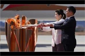 one month left in the torch relay of the tokyo olympics