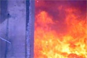 a fire broke out in a two storey house when a gas cylinder exploded