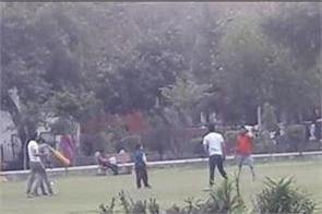 street cricketers bad round garden beauty people injured