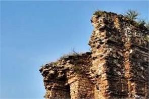 pakistan  old nandana fort  vishnu temple  condition  bad
