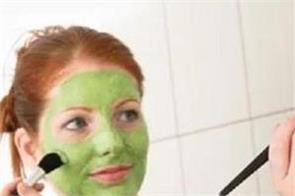beauty tips  acne on the face  apply a face pack made with guava leaves