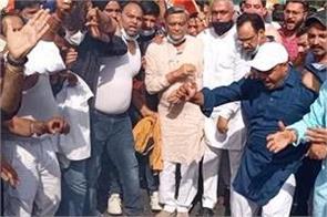bjp leader protest agianst punjab government jalandhar