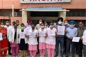 government hospital staff demonstrated their safety